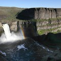Sunset and rainbow at Palouse Falls State Park.- Western State Parks That Will Blow Your Mind