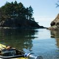 Matia Island offers kayakers a nice place to take a break before heading to Patos Island.- Paddling the West