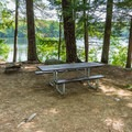 Typical campsite at Pawtuckaway State Park Campground.- 5 Incredible Campgrounds to Explore in New Hampshire