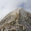 Pfeifferhorn's imposing summit pyramid.  - Lone Peak Wilderness