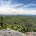 The summit views atop Pharaoh Mountain, looking to the west.- Incredible Adirondack Hikes Below 4,000 Feet
