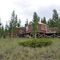 Yurt includes a pit toilet in a separate yurt.- Phoenix Ridge Backcountry Yurt