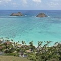 The visual rewards of the Lanikai Pillbox Trail do not take long to reach. These are the Mokulua Islands.- O'ahu's 16 Best Hikes