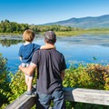 Taking in the view at Pondicherry Wildlife Refuge.- Incredible Adventures in New Hampshire's White Mountain National Forest