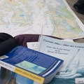 Guidebooks and current charts are helpful for navigating the tricky currents around the San Juan Islands.- Paddling the West