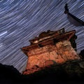 Star trails above a Buddhist stupa on a chilly night in Prok.- Rethinking Leave No Trace: Increasing Your Cultural Awareness