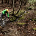 A banked bridge near the end of Danimal North in Westside Trails.- Mountain Biking in British Columbia