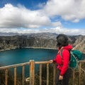 From the small town that borders the lake, there's a wooden boardwalk and a stunning overlook.- Quilotoa Loop Trek