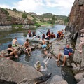 Radium Hot Springs can attract a crowd, but it can also offer solitude at certain times. - 10 Must-Visit Hot Springs