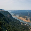The view west from Wauna Point.- Columbia River Gorge National Scenic Area