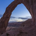 Sunrise at the Corona Arch.- Corona Arch Trail