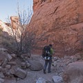 Hiking in to Reflection Canyon.- Reflection Canyon