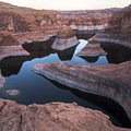 The water level is obviously historically low at Reflection Canyon.- Reflection Canyon