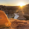 The Reflection Canyon rim is an unforgettable place to camp.- Reflection Canyon