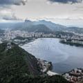 View over Botafogo Bay to the Christ the Redeemer Statue.- Add a Stamp to Your Passport