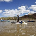 Enjoying mellow floating on Ruby Horsethief.- 10 Great Rafting Trips in the Rocky Mountains