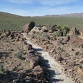 In some sections the Barber Peak Loop Trail is very easy to follow!- 8 Must-do Mojave Desert Adventures