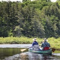 The Fish Creek outflow to Little Square Pond.- Three Adirondack Paddling Adventures for your Bucket List