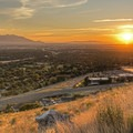 Looking down onto Foothill Drive at sunset from Around the Valley.- Adventure in the City: Salt Lake City