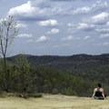 Enjoying the view on Auxier Ridge Trail.- A Weekend in Kentucky's Red River Gorge
