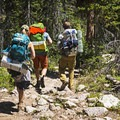 Some backpackers heading home from Ruth Lake.- Guide to Camping Near Salt Lake City, Utah