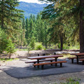 Double campsite at Salmon La Sac Campground.- Great Camping Near the Enchantments