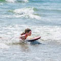 Catching some waves at Seabrook Beach.- 5 Reasons to Visit New Hampshire's Coast This Summer