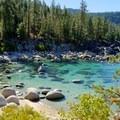 Chimney Beach, Lake Tahoe.- Memorial Day Trip Ideas
