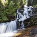 Secret Falls.- A Weekend in Little Cottonwood Canyon