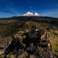 Grand Mount Shasta off in the distance from Yellow Butte, one of the best views in the entire region.- 5 Reasons to Visit Mount Shasta in the Winter