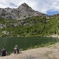 White Baldy sitting above Silver Lake in American Fork Canyon.- Lone Peak Wilderness