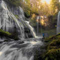 Panther Creek Falls from below.- Waterfalls on the Washington Side of the Columbia River Gorge