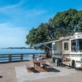 Camping by the sea in Aptos at Seacliff State Beach Campground.- Guide to Bay Area Camping