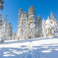 Backcountry skier on the ridge near Echo Lake.- 20 Photos That Will Make You Excited for Winter