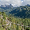 The Skywalk with Sky Pilot Mountain in the background.- Best Day Hikes near Vancouver, B.C.
