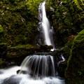 A closer look at the lower part of Soda Creek Falls.- Soda Creek Falls Trail
