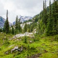 Meadow crossing before Spade Lake.- Best Places for Sasquatch Spotting