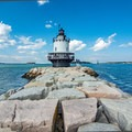 Spring Point Ledge Lighthouse.- An Adventure Guide to the Maine Coast