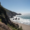 Looking over Thomas Creek Beach.- Guide to the Samuel H. Boardman State Scenic Corridor