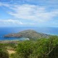 Sweeping views of the south shore of Oahu at Hanauma Bay along the Koko Head Stairs.- Hawaii's Island Adventures