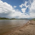 Swimming beach at Steamboat Lake State Park.- Gorgeous Colorado Lakes for Summer Adventure