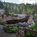 Early morning at Strawberry Hot Springs. -  Hot Springs, Geysers, and Other Geothermal Activity