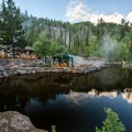 Hot Spring Creek flowing through the pools at Strawberry Hot Springs, Colorado.- Plunge Into Swimming Holes