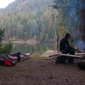 Campfires are allowed on Stuart Island.- Beach Camping in the West