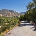 A trail at Tanner Dog Park.- Adventure in the City: Salt Lake City