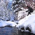 Crossing the creek at Tanners Flat.- 5 Safe and Easy Ways to Enjoy Winter in the Wasatch