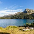 One of the lakeside campsites. - Tenquille Lake Hike via Tenquille Creek Trail