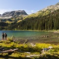 Enjoying the view.- Tenquille Lake Hike via Tenquille Creek Trail