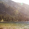Fishing at Tenquille Lake.- Tenquille Lake Hike via Tenquille Creek Trail