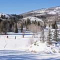 Sledding near the North Basin Trails.- 5 Great Snowshoe Trails Near Salt Lake City